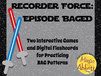 Recorder Force, Two Games and Digital Flashcards for Recor