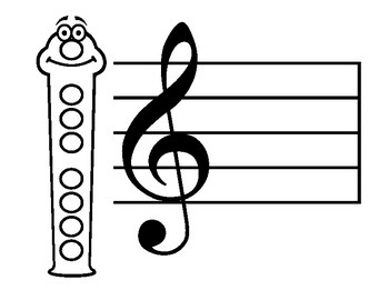 Recorder Fun Face Blank- DIY or Music Assessment Tool!