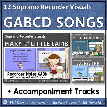 Recorder Fun with Notes GABCD {Interactive Bundle for sopr