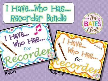 Recorder - I Have...Who Has... Bundle