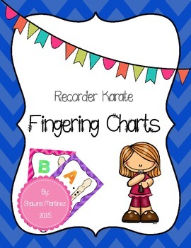 Recorder Karate Fingering - Chevron frames