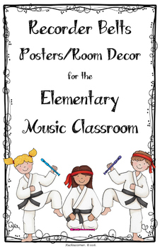 Recorder Belt Posters/Room Decor/Visuals - LARGE POSTER LE