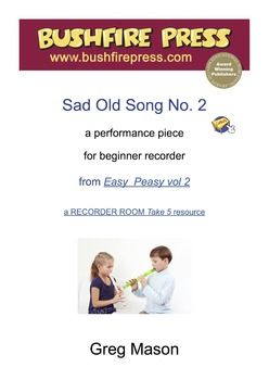 Recorder Music - Beginners: Sad Old Song No. 2