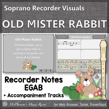 "Recorder Song ""Old Mister Rabbit"" (Notes EGAB) soprano rec"