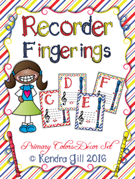 Recorder Posters - Primary Colors Themed