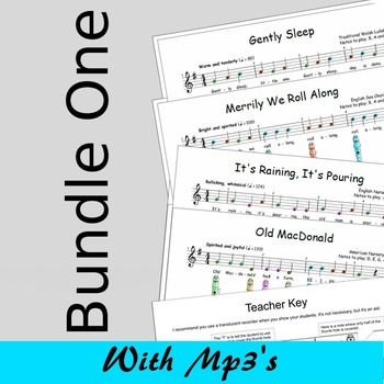 Recorder Sheet Music - Bundle One - Save 15%