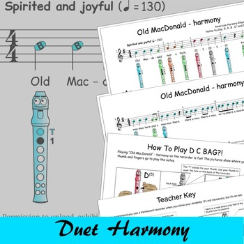 Recorder Songs - Old MacDonald Duet