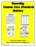 Recording Common Core Standards Mastery