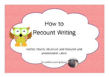 Recount How To Writing (posters, labels, rubric)