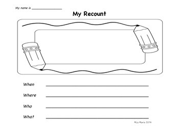 Recount Writing