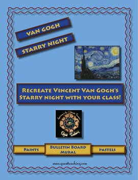 Recreate Van Gogh's Starry Night: Mural Project/Grid Art Lesson