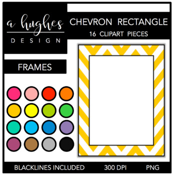 Rectangle Chevron Frames {Graphics for Commercial Use}