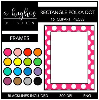 Rectangle Polka Dot Frames {Graphics for Commercial Use}