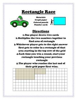 Rectangle Race-Math Enrichment Activity