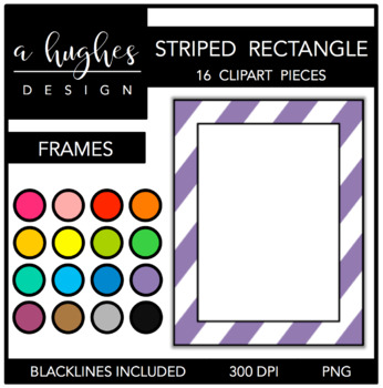Rectangle Striped Frames {Graphics for Commercial Use}