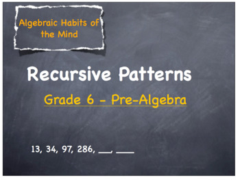 Recursive Patterns - Lesson Plan - Grades 6 - 12