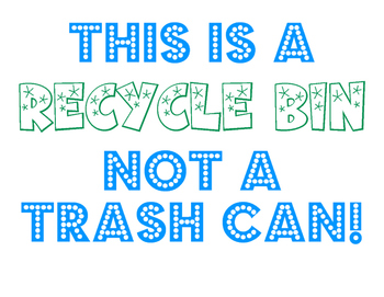 Recycle Bin Sign