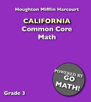 Recycled Book, California Common Core Math Grade 3 (like new)