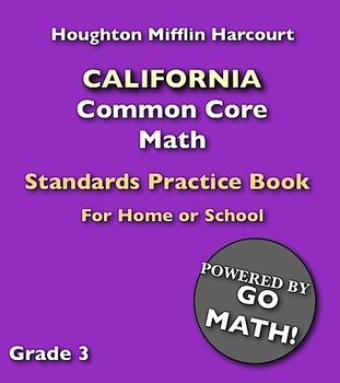 Recycled Book, California Common Core Math Standards Practice