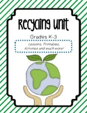 Recycling : Bundle of Lesson Plans, Activities, Printables