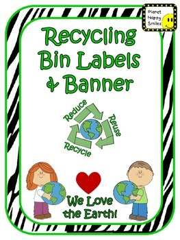 Earth Day: Recycling Center Labels Zebra
