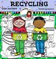 Recycling Clip Art -Color and B&W- 50 items!
