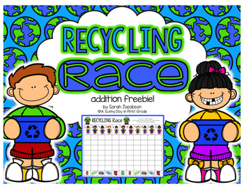 Recycling Race {addition freebie!}