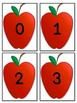 Red Apple Number Flashcards 0-100