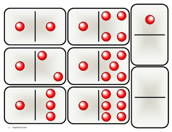 """Red Beads"" Domino Math for Autism"