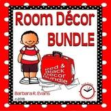 ROOM DECOR BUNDLE: Red & Black Themed