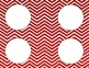 Red Chevron Classroom Tags and Labels