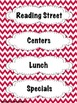 Red Chevron Schedule Cards