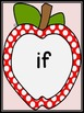 Red Dot Apple Dolch 3rd Grade Sight Word Flashcards & Posters