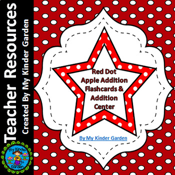 Red Dot Star Addition Flashcards 0-12