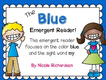 Blue Emergent Reader