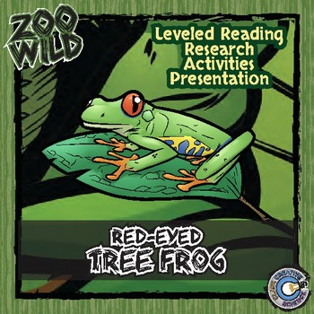 Red-Eyed Tree Frog -- 10 Resources -- Coloring Pages, Read