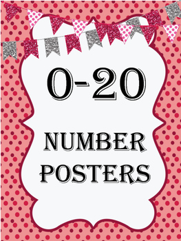 Red Festive Number Posters