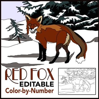 Make Your Own Color by Number: Red Fox