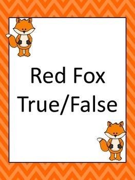 Red Fox True False
