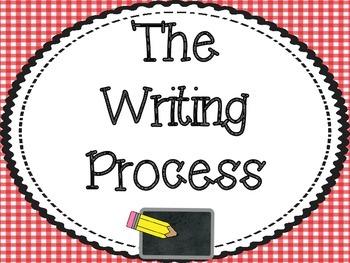 Red Gingham Writing Process Set