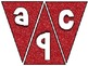 Pennant Bulletin Board Letters - Red Glitter