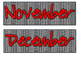 Red Letters Black/White Gingham Days of the Week and Month