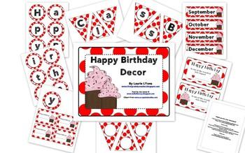 Red Polka-Dot Birthday Tags