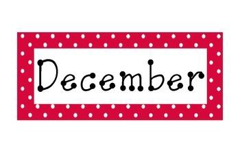 Red Polka Dot Calendar Months