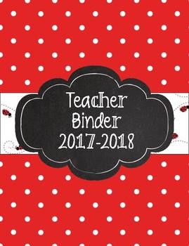 Red Polka Dot and Ladybug Themed Teacher Binder