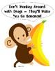 Red Ribbon Week Drug Free Monkey Poster and Bananas FREE