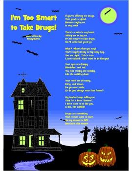 Red Ribbon Week Drug Poem with Halloween Theme