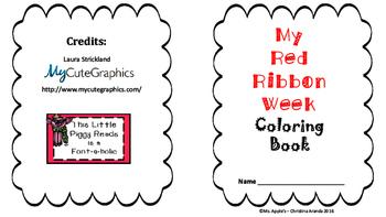 Red Ribbon Week Mini Coloring Book