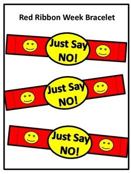 Red Ribbon Week/Drug Prevention Bracelets