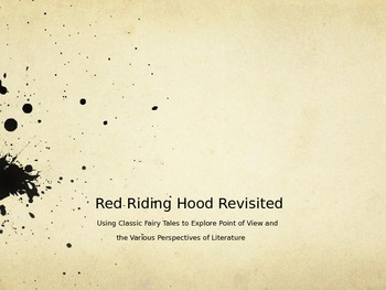 Red Riding Hood Revisited: Exploring Point of View With Cl